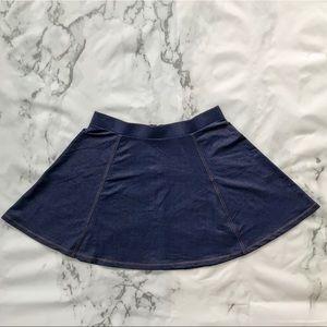 Divided Skirts - Divided denim look skater skirt